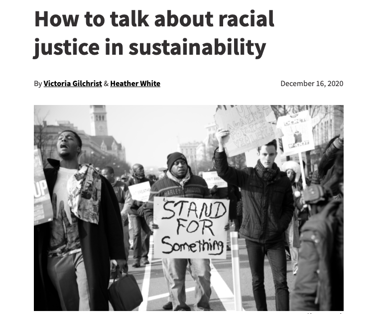 racial justice in sustainability