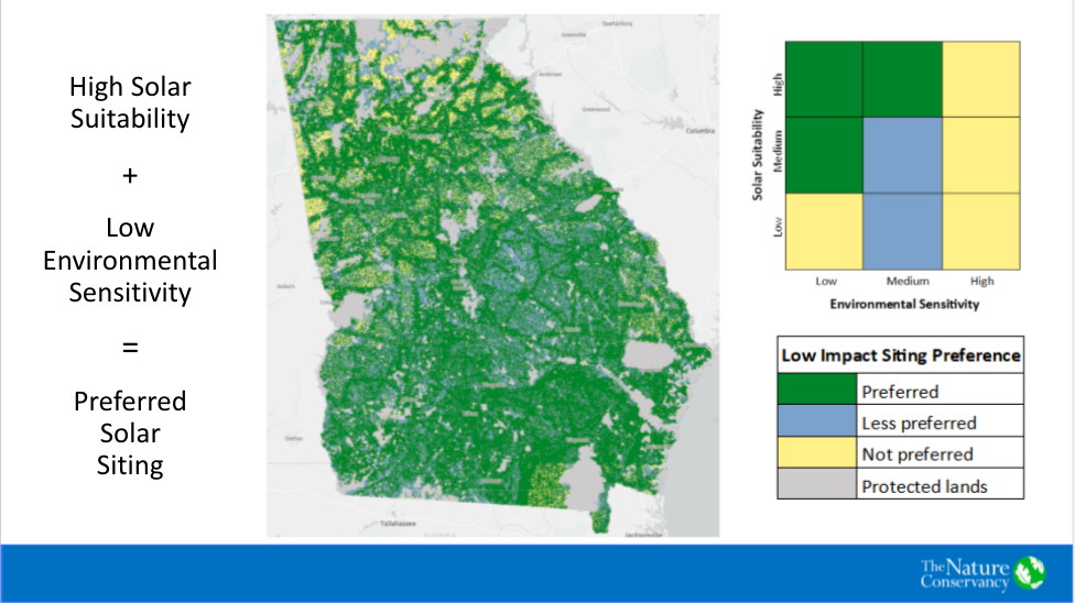 Nature Conservancy solar mapping tool